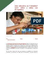 Hay Inclusión Educativa en Colombia