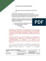 Análisis de Aspectos Ambientales y Factibilidad Ambiental