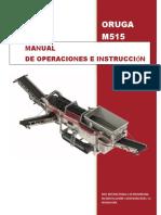 Manual de Operación y Mantenimiento Trommel M515 Español.pdf