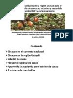 Potencial Cacao Ucayali Antonio-Lopez UNU