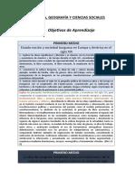 Historia, Geografía y Formación Ciudadana (1º Medio)