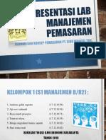 Presentasi Lab Manajemen Pemasaran
