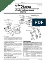 Estacion de Purga Compacta Con Conector Universal en Acero Inoxidable STS172-TI-P128-22-ES