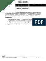 PRODUCTO ACADÉMICO N° 1 - METODOLOGÍA DE LA INVESTIGACIÓN