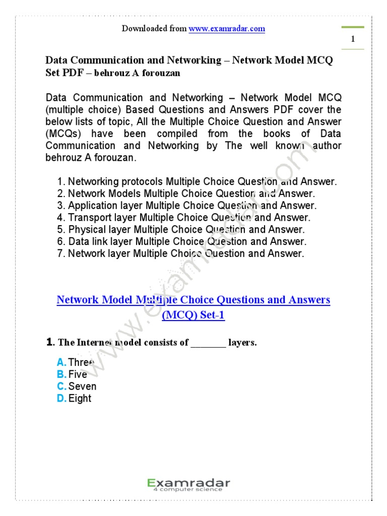 CH-2-data-communication-networking-network-model-multiple-choice