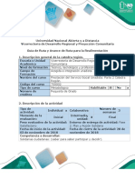 Guía de Ruta y Avance de Ruta Para La Realimentación - Fase 2. Plan y Acción Solidaria.