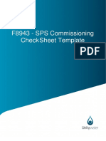 Commissioning check templates
