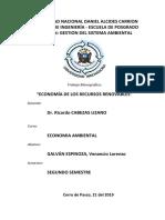 01 Economia de Recursos Renovables - Venancio GALVÁN E.