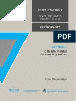 2.1. Nivel Primario Ateneo Didáctico N° 1 Encuentro 1 Primer Ciclo Matemática Carpeta Participante