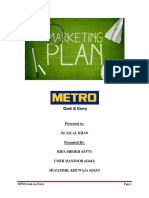 Marketing Report of Metro