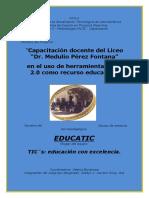 Proyecto de Capacitación Docente en el uso de herramientas web 2.0 como recurso educativo.