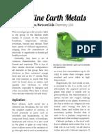 Alkaline Earth Metals - Explanation