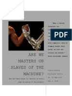 are we masters or slaves of the machine final assignment monnin