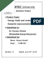 Energy Audit RER Project