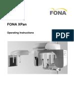 FONA XPan Operator Manual GB