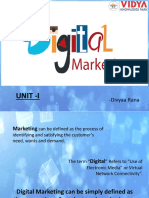 Digital Marketing ( Unit-I)