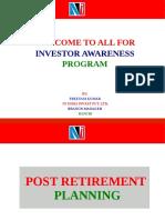 Post Retirement Savings Schemes(1)
