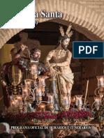 Libro de mano de la Semana Santa de Guadix 2019