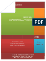 Issues in Grammatical Theory
