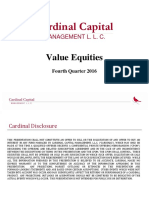 Cardinal Capital Value Equities Master December 2016