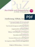 Anerkennung Teilhabe Integration ApuZ 46-47-2010