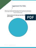 Anger Management for Kids Worksheet