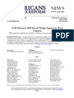 2010 List of Taxpayer Protection Pledge Signers in West Virginia