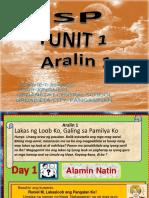 ESP- Aralin 1 Lakas ng Loob Ko, Galing sa Pamilya Ko.pptx