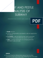 Swot and Pestle Analysis of Subway