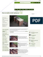 How to Build a Brick Barbecue - Projects Garden DIY - Garde