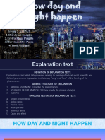 Explanation Text How Day and Night Happen by Group 5. Xi Ipa 7 Edited