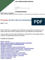 Programa de Intervalos de Mantenimiento de Topadoras Caterpillar D6R
