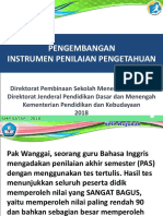 1. Pengembangan Instrumen Penilaian Pengetahuan