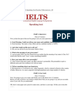 IELTS Speaking Test 9 (Your Name, Describe About Your Holidays)