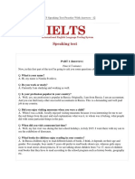 IELTS Speaking Test 12 (Your Profession, Books, Museums & Describe a Project or a Piece of Work)
