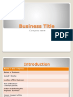Sample Basic Slides for BP Presentation