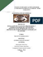 Delgado Vega Proyecto Cafe Artesanal