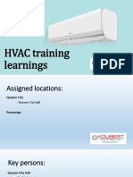 HVAC Training Learnings
