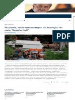 Ancelmo Gois Liga Flávio Bolsonaro Com Milícias e Caso Tragédia Do Muzema