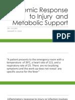 Surgery Systemic Response to Injury 1-9-2018