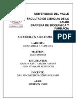 Toxicologia Alcohol en Air Espirado Con Objetivos y Conclusiones Am Listo Para Imprimir Am
