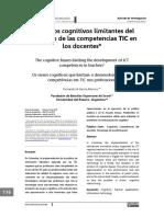 Los sesgos cognitivos limitantes del desarrollo de las competencias TIC en los docentes