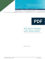 ING Bank Merges With Kotak Bank