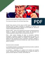 Sanciones Contra El Pueblo Venezolano Las 25 P de La Universidad Necesaria