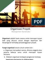 2.Organisasi Proyek