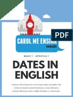 1- Datas Em Inglês