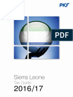 Sierra Leone Tax Guide 2016 17