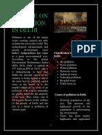 Article on Pollution in Delhi