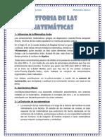 Historia de Las Matematicas Flor Huaranga