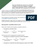 Monografie Contabila Salarii 2018